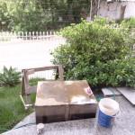 Manutenção na caixa d'água